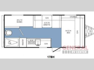 New 2014 Coachmen RV Clipper Ultra-Lite 17BH Travel Trailer at General RV   North Canton, OH   #106273