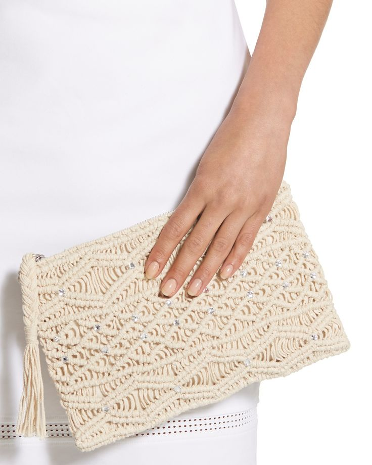 Megan Macrame Clutch - Chico's