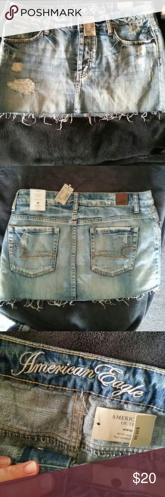 American Eagle Mini Skirt Brand new with tags still in tact (Destroyed Style) American Eagle Outfitters Skirt American Eagle Outfitters Skirts Mini