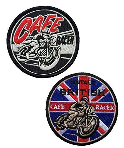 Set Of Two Vintage Cafe Racer Ton Up Patch - By Patch Squad
