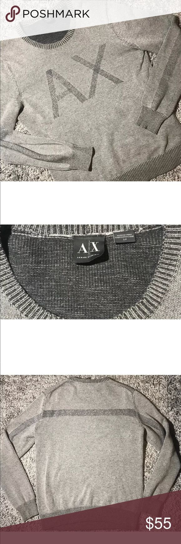 """Armani Exchange AX Sweater Pullover size Small Size: Small  In great condition, ready to wear form!!  Armani Exchange signature logo on the front """" A X """"   Approximate measurements laying flat unstretched;   Pit to pit: 20.5""""  Shoulder to shoulder: 17""""  Length of back: 25"""" A/X Armani Exchange Sweaters Crewneck"""