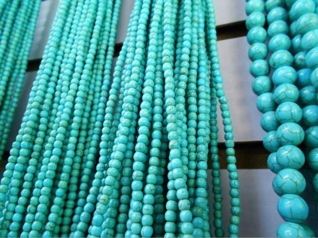 Бирюзовый Лидер продаж приблизительно 39 см/strand натуральный зеленый камень Бусины и бисер 4/6/8 мм Палочки Размеры для ювелирные изделия DIY браслет Цепочки и ожерелья