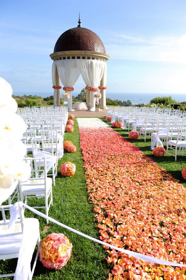 free wedding venues in california%0A seaside wedding venue decoration ideas with ombre flowers