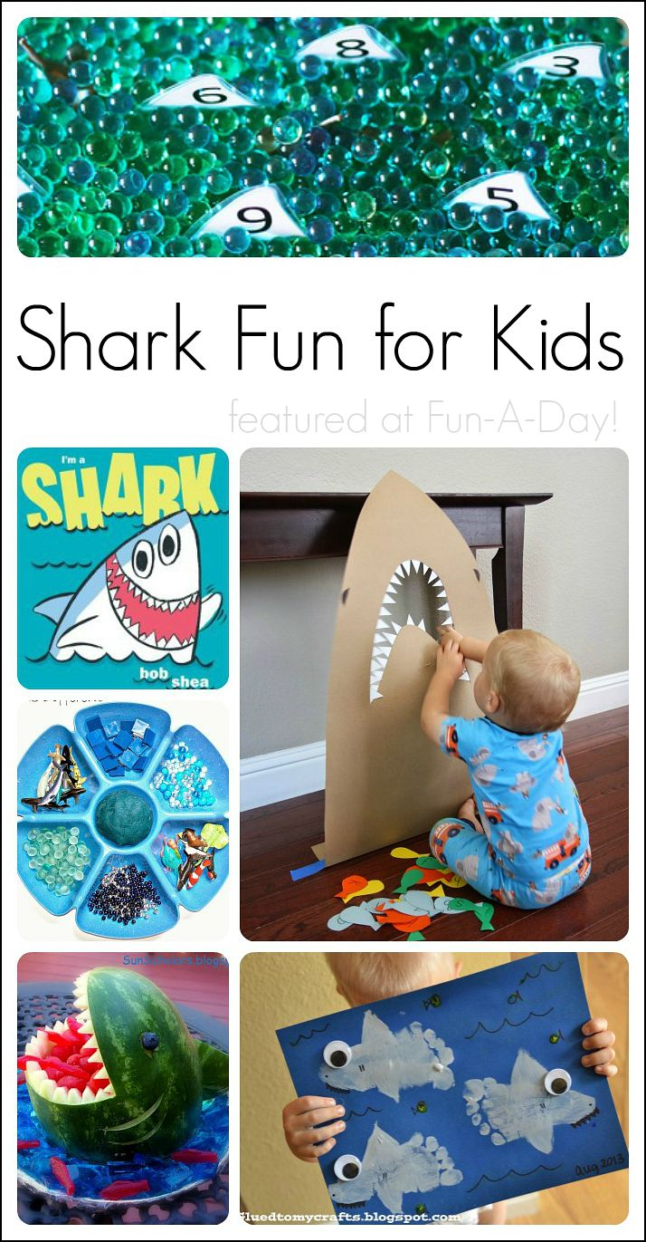 fun shark activities for kids featured at Fun-A-Day! -- Pinned by @PediPlay