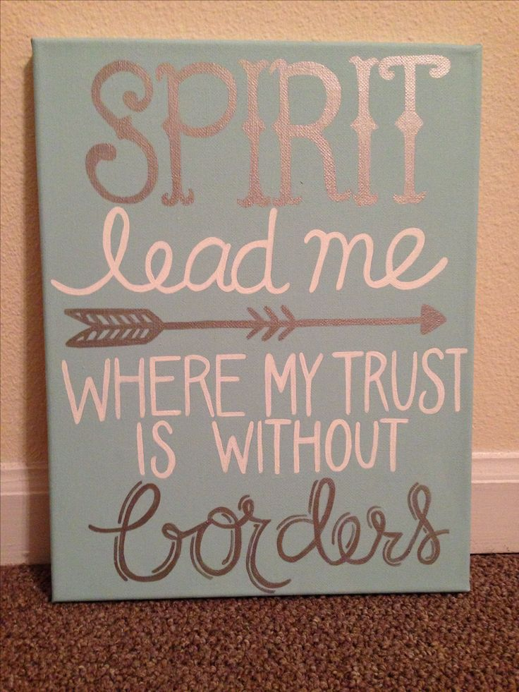 Spirit lead me where my trust is without borders canvas - pretty above the piano
