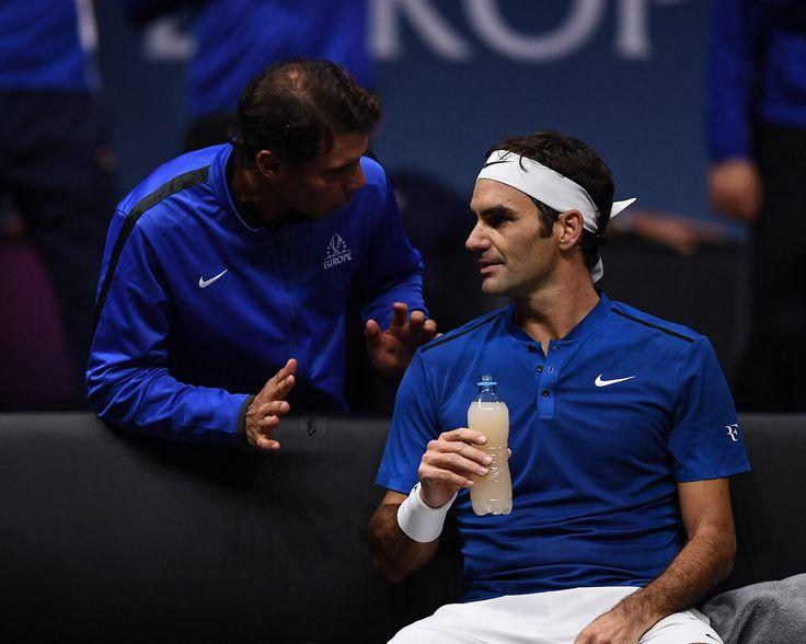 Laver Cup - Federer v Kyrgios: Match 12 Gallery   Laver Cup - Nadal donne quelques conseils à Federer - 24 Septembre 2017 - Prague