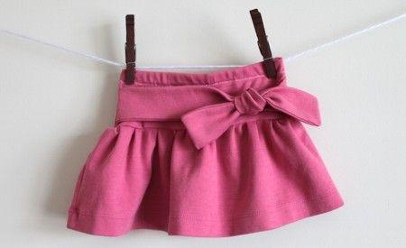 Skirt for a little girl DIY- Como hacer una falda para niña