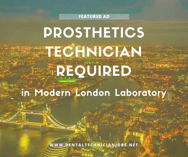 **JUST IN** Prosthetics Technician Required for Modern Lab in West London.  https://dentaltechnicianjobs.net/jobs/prosthetics-technician-required-modern-london-lab/?utm_content=bufferc9d46&utm_medium=social&utm_source=pinterest.com&utm_campaign=buffer