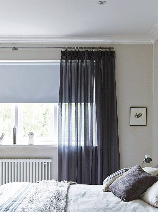 Voile curtains a lightweight translucent window dressing hillarys more house ideas for Grey bedroom window treatments
