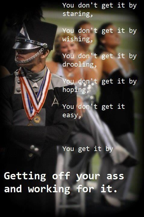 Amen. I want to be a Drum Major so bad. And I will be. Nothing is going to stop me.