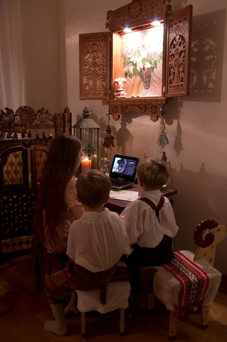 #Furniture for #children, decorated with #carved elements #Russian #carver #Vladimir Kolesyankin