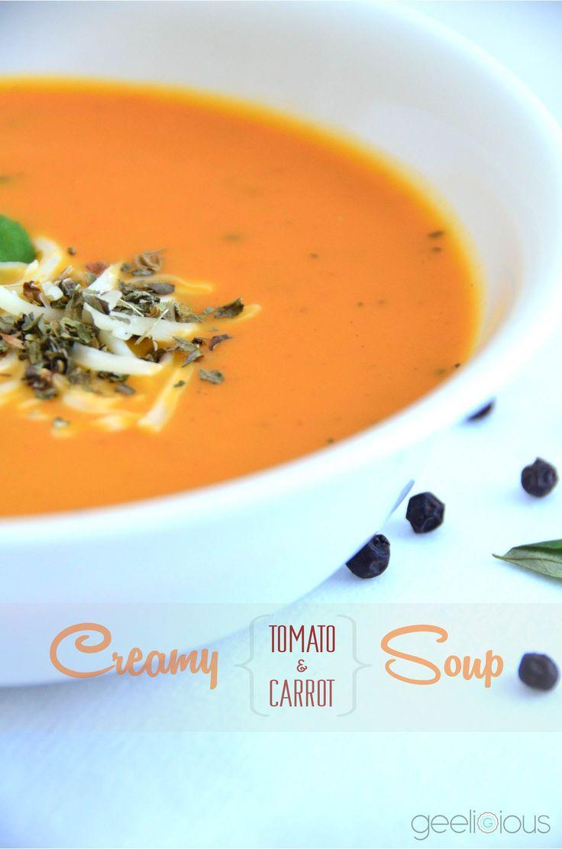 ♨ Creamy 'tomato-carrot' Soup ♨