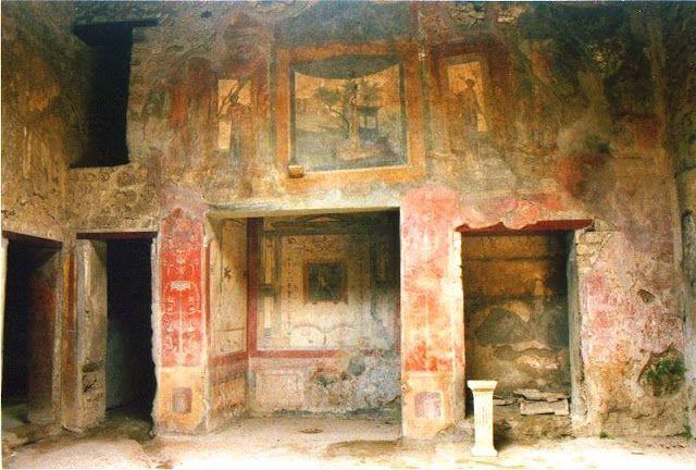 Um dos primeiros registros de Trompe l'oeil encontrados na cidade de Pompéia, Italia www.conexaodecor.com