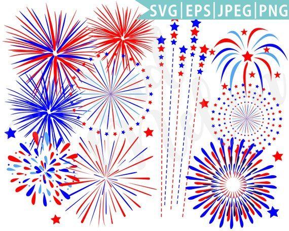 Fireworks Eps Png Jpeg Instant Download Independence Day Etsy Fireworks Clipart Clip Art Digital Clip Art