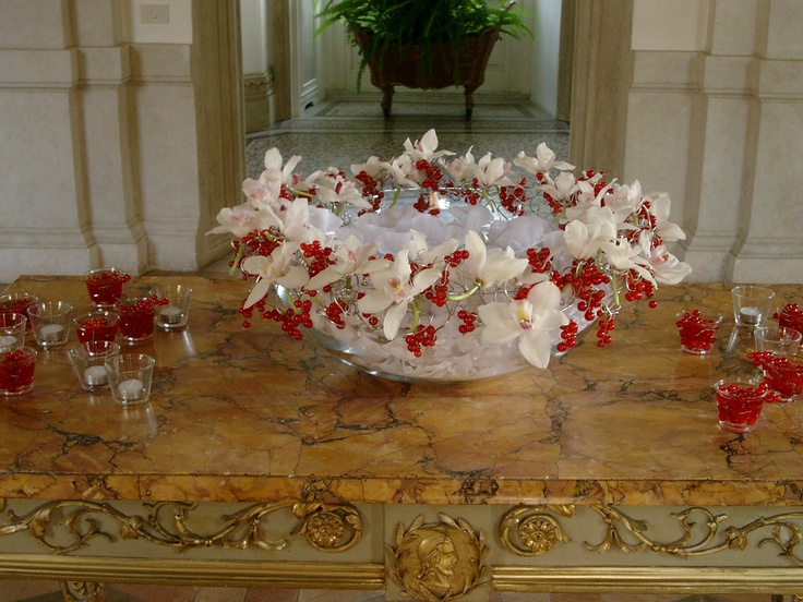 centerpieces | orchids | floral arrangement  by Tulipani bianchi