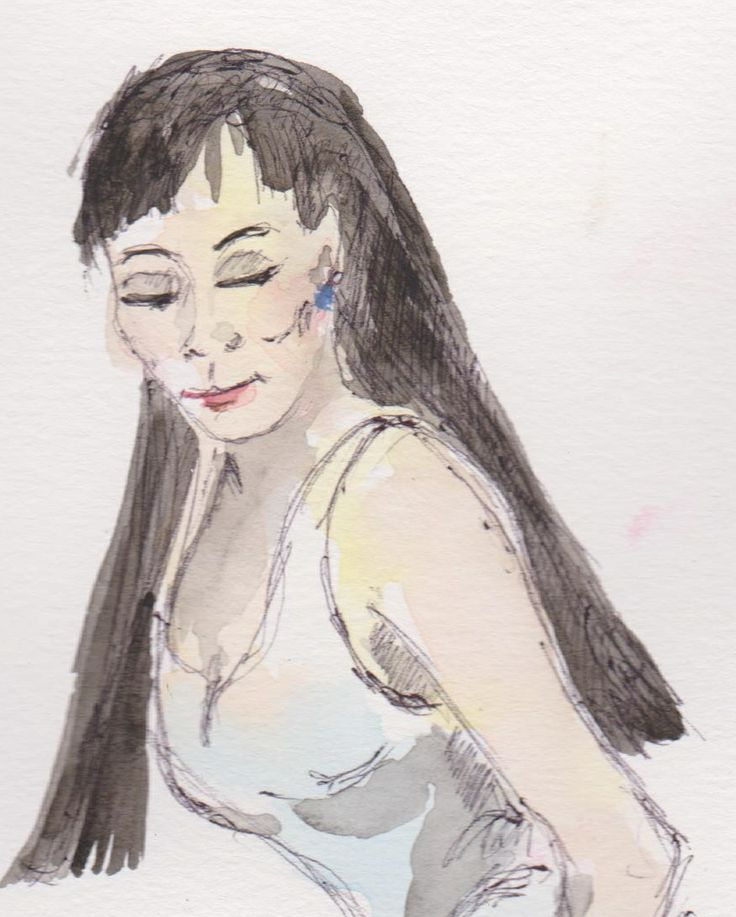 """Sketch of the character """"Marie Carmen"""" who features in my novel """"Saying Nothing"""". The book is mainly set in Spain, but Marie Carmen is from Peru (which I realize is not really CA)."""