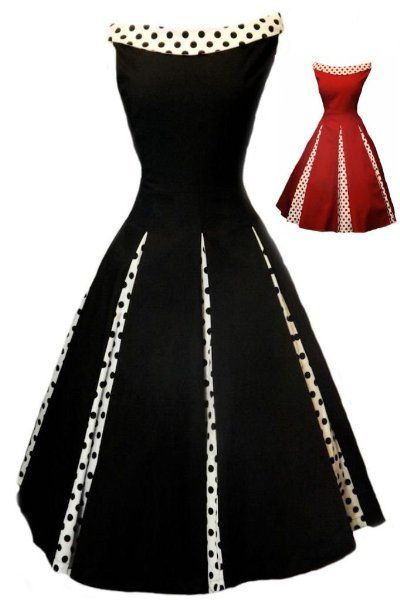 Aprils 50s Rockabilly Classy Black Vintage Swing Evening Cocktail Party Dress:Amazon:Clothing