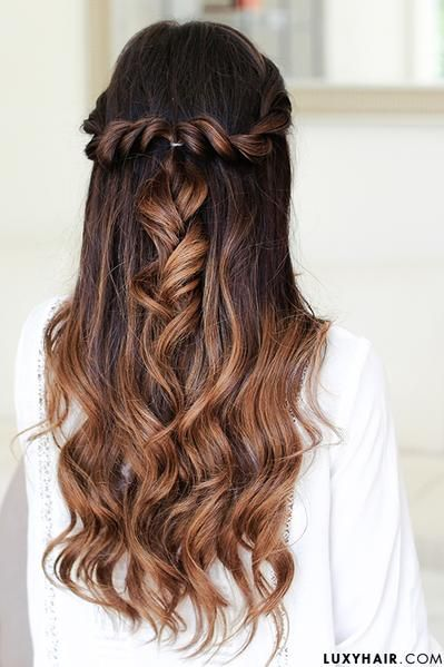 Easy holiday hairstyle for medium hair