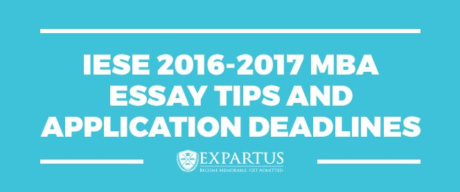 Mba admission essays services iese