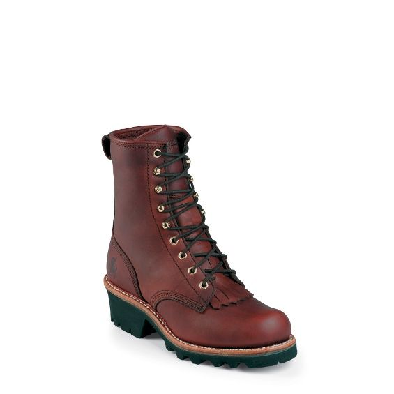 """CHIPPEWA BOOTS #L73026 8"""" REDWOOD LOGGER"""