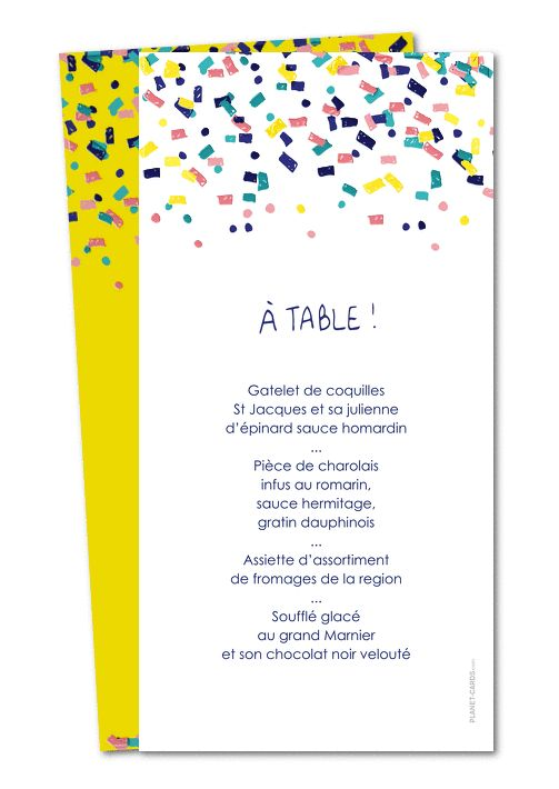 Idee menu anniversaire de mariage menu de table moulin for Table 52 gaborone menu