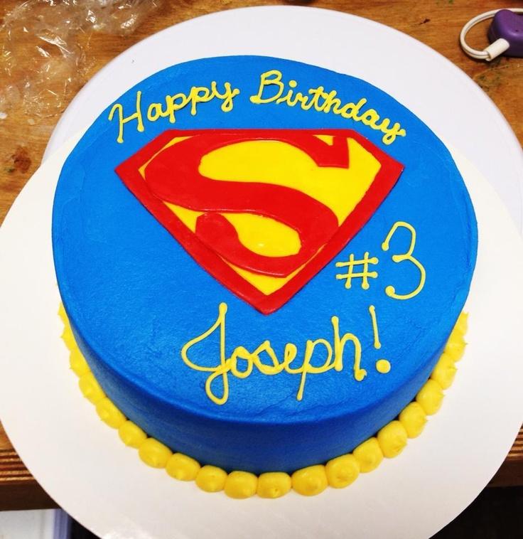 Superman Birthday Cake Bake Your Day, LLC - Alexandria, LA www.facebook.com/bakeyourdayllc (318) 229-0299 bakeyourdayllc@hotmail.com