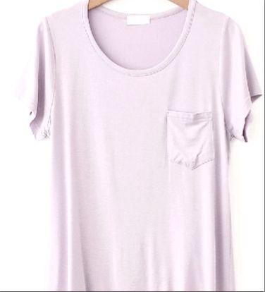 basic t shirt lilac
