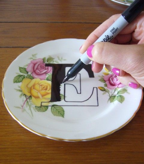 Printed plates DIY tutorial - Bake the plates, if using Sharpie ~ at 220 degrees for 30 minutes.