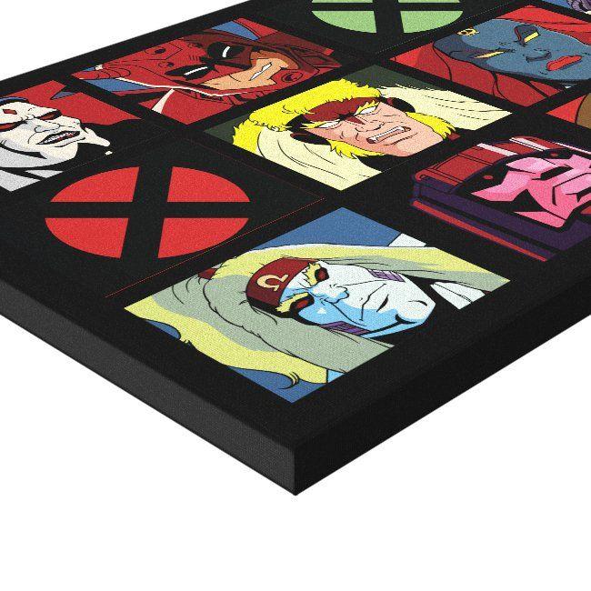 Classic X Men X Men Villain Character Grid Canvas Print Ad Affiliate Character Grid Canvas Vi Retro Canvas Art Canvas Art Prints Villain Character