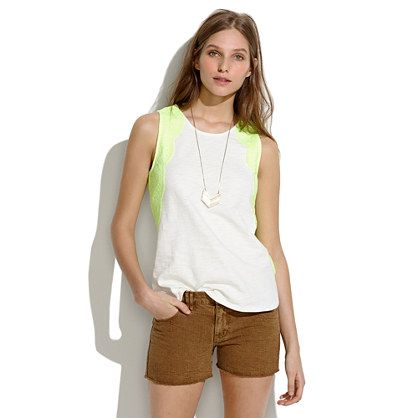 Neon Lace Tank / Madewell