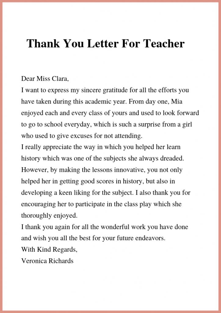 Here Are Some Writing Tips And Sample Templates To Write The Best Thank You Letter To Letter To Teacher Teacher Appreciation Quotes Teacher Appreciation Letter