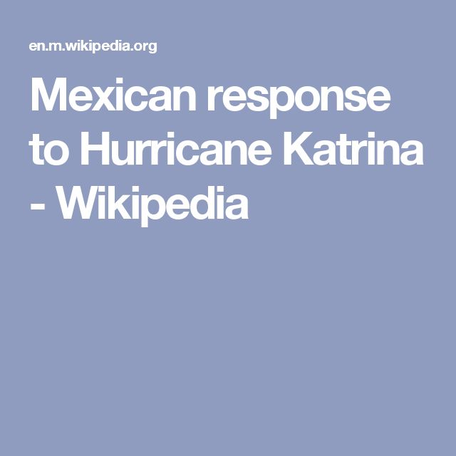 Mexican response to Hurricane Katrina - Wikipedia