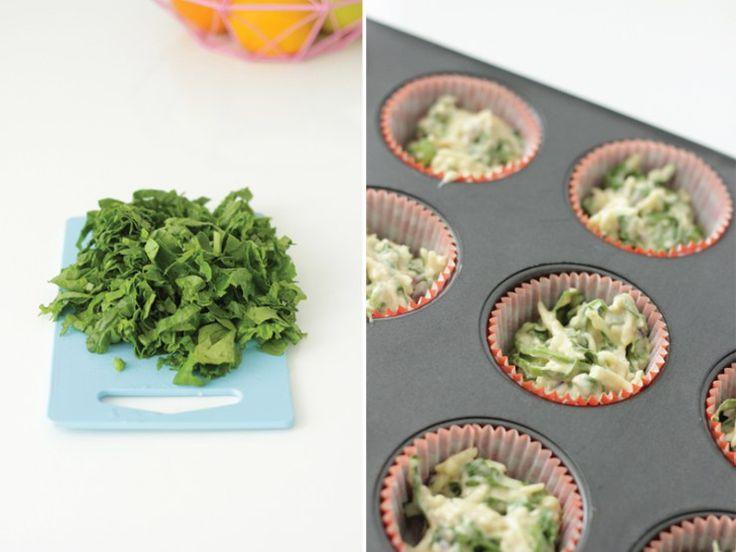 Recept: muffins met spinazie en kaas (rapley) - ministijl