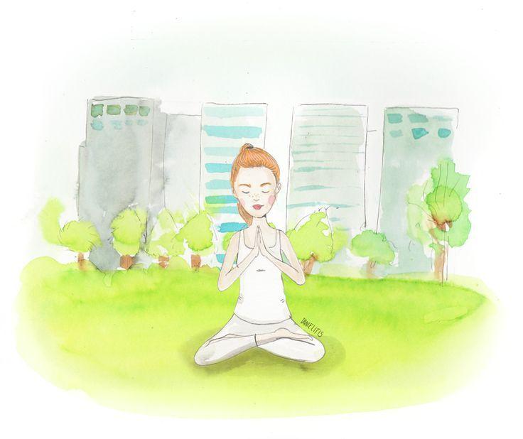 Yoga en Parque Araucano...ommmm