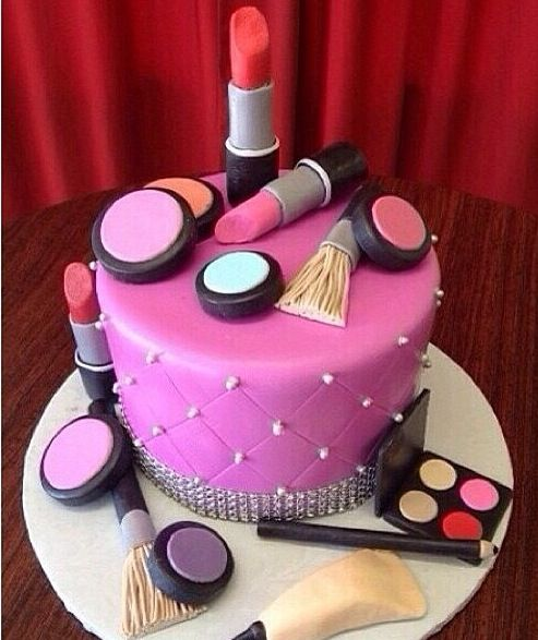 Makeup Birthday Cake Images