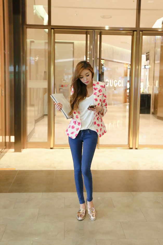 Pink Flower Pattern Jacket