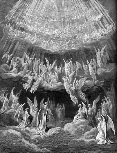 Gustav Dore... love it Angles, splendor, and worship... sweet!