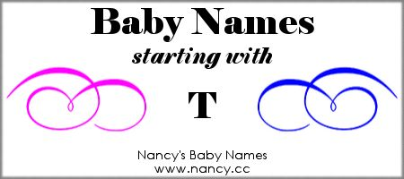 Long list of both girl names and boy names that start with the letter T. Each name links to a popularity graph. #babynames