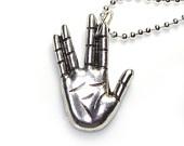Star Trek Vulcan hand sign - Live long and Prosper - Long 24 inch BALLCHAIN