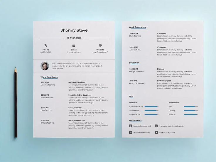 Free it manager resume template in psd and illustrator