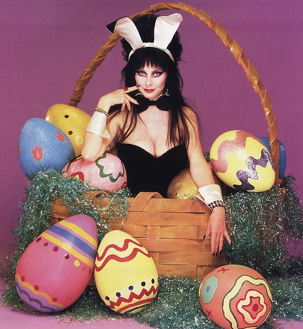 Easter ElviraElvira Easter, Cassandra Peterson, Ears Pin, Easter Bunnies, Dark Black, Elvira Mistress, Beautiful People, Happy Easter, Halloween
