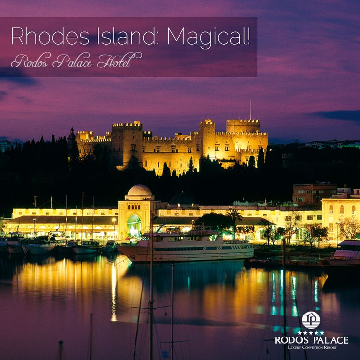 Rhodes island is magical, every day and every night. http://www.rodos-palace.com/ #rodospalace #hotel #rhodes #island #greece #night #view