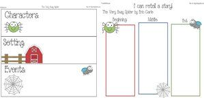 Spider activities: FREE printables for The Very Busy Spider.