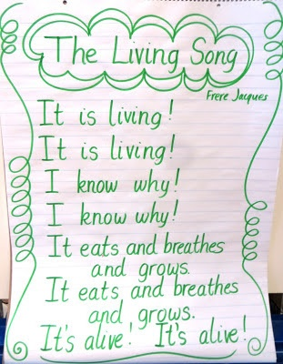 Cute poem/song to teach Living vs. Nonliving