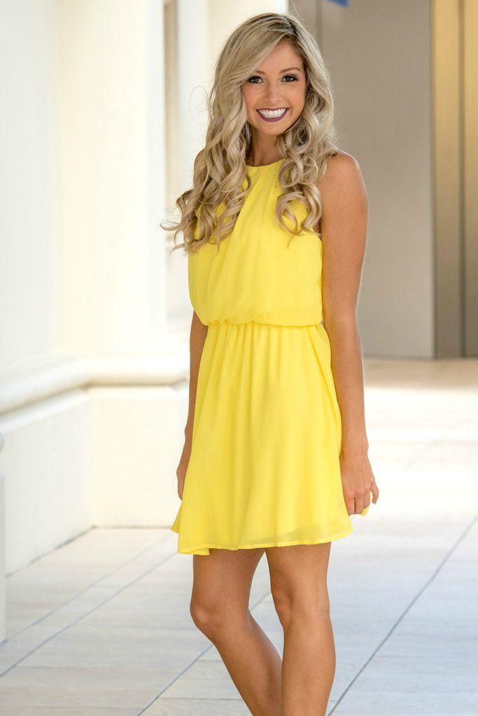 Pocketful of Sunshine Yellow Dress Shop Simply Me Boutique Shop SMB – Simply Me Boutique