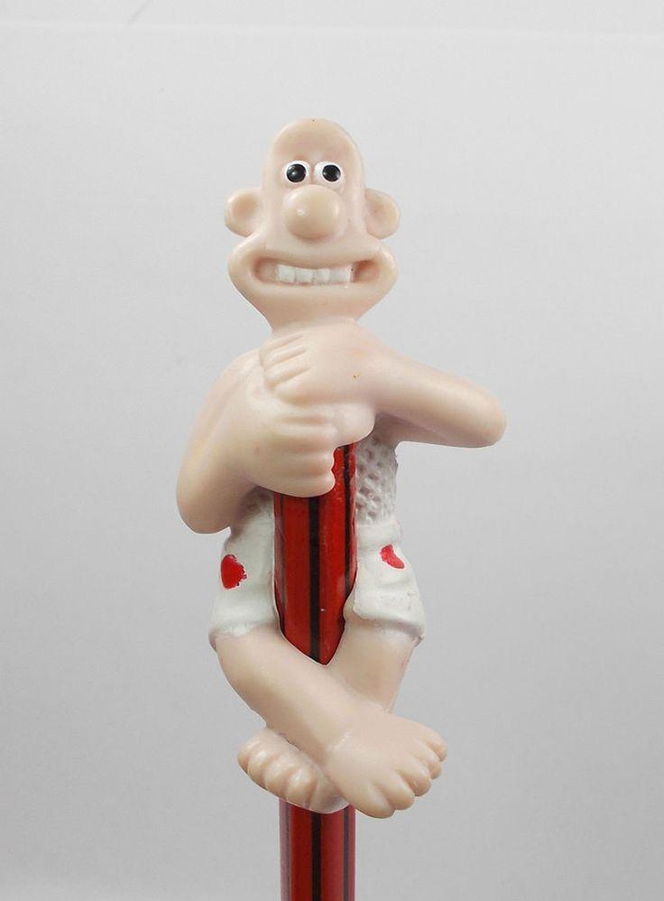 Wallace & Gromit - Wallace - Mini Toy Figure - Aardman 1989 - Pencil Topper