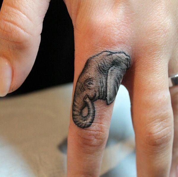 Elephant Foot Tattoos for Women | 28 Finger elephant tattoo