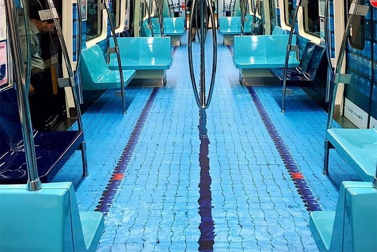 Subway Cars In Taiwan Got Dressed Up To Look Like Sports Arenas