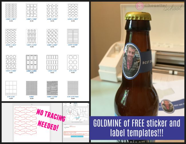 Gold Mine of Free Downloadable Sticker and Label Templates for Silhouette CAMEO