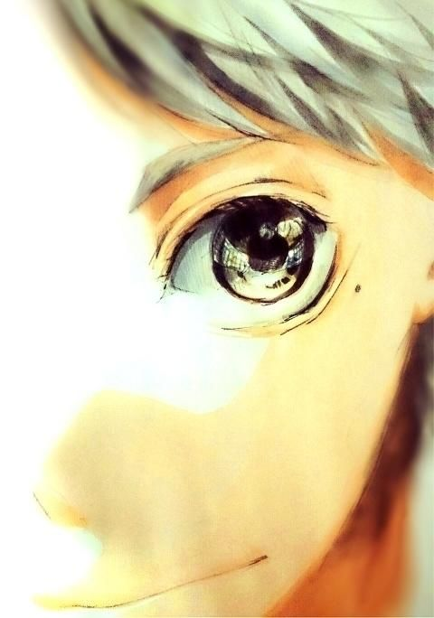 Sugawara Koushi - Haikyuu!! / HQ!!  This picture is so awesome! Is that the net of the court reflected in his eye !? Mama!Suga